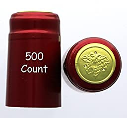 Metallic Ruby Red PVC Shrink Capsules-500 Count