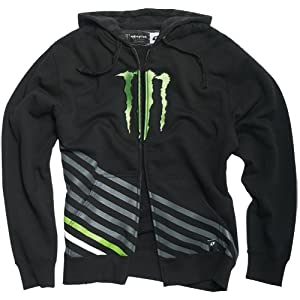 One Industries Monster Vertical Men's Hoody Zip Fashion Sweatshirt/Sweater - Color: Black, Size: X-Large