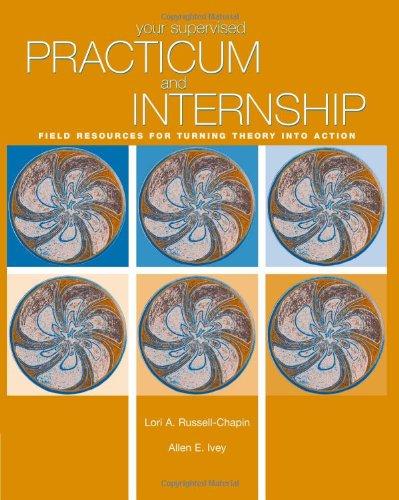 Your Supervised Practicum And Internship: Field Resources...
