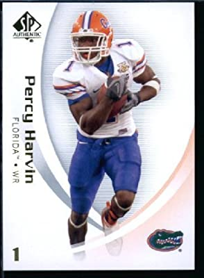 2010 Upper Deck SP Authentic NCAA Football Card #72 Percy Harvin - Gators (Minnesota Vikings) NFL Trading Card