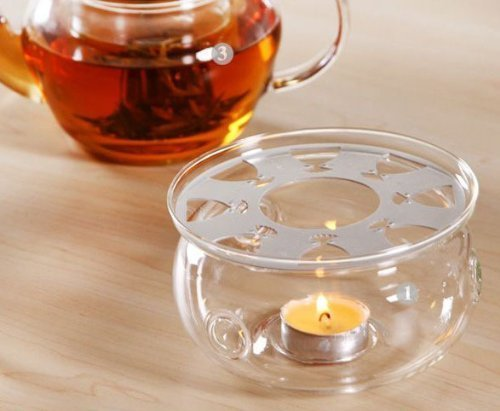 DecentGadget High Heat Resistant Borosilicate Glass Teapot Warmer With A Candle As A Gift (teapot warmer) (Teapot Warmer Candle compare prices)