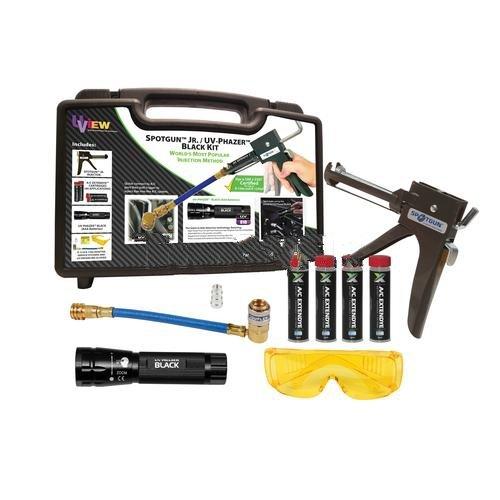 SpotgunTM Jr. UV PhazerTM Black (AAA) Leak Detection Kit with ExtenDyeTM-2pack ultrasonic leak detector 40khz ultrasonic transmitter reliable detection gas leak detector led indicator all sun em282