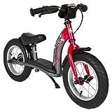 Bikestar 12 Inch (30.5cm) Kids Balance Bike / Kids Running Bike Classic Red & Grey