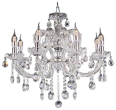 OK Lighting Fleur Chandelier Lamp/LED Celling Lamp