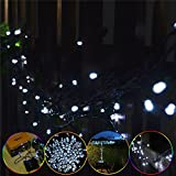 INST Solar Powered 100 LED String Light for Outdoor and Indoor Use (White)