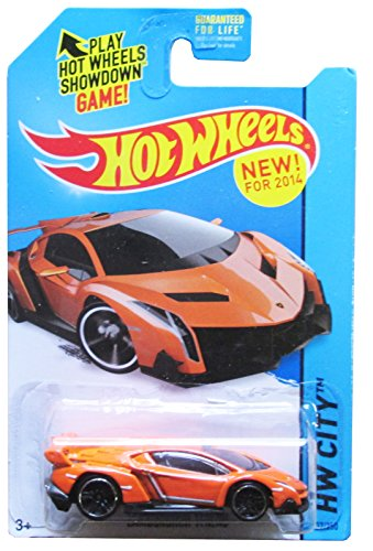 2014 Hot Wheels Hw City Lamborghini Veneno (Orange) - 1