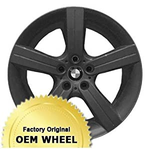 BMW 323,325,328,330,335,3 SERIES 19X9 5 SPOKE Factory Oem Wheel Rim- PAINTED BLACK – Remanufactured