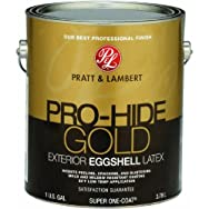 - 0000Z8592-16 Pratt & Lambert Pro-Hide Gold Eggshell Latex Exterior House Paint