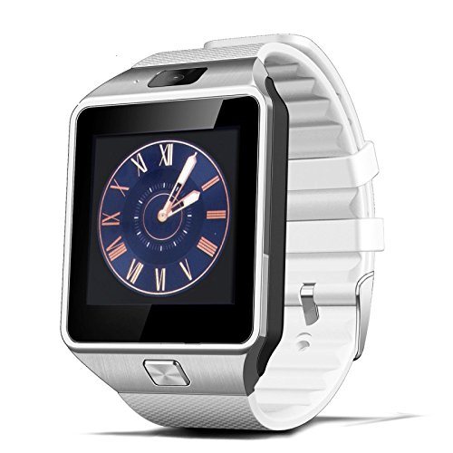 Lincass Smartwatch Fitness Tracker Bluetooth Smart Watch Wristwatch Smartwatch with Pedometer Anti-lost Camera for Iphone Samsung Huawei Android Phones (White)