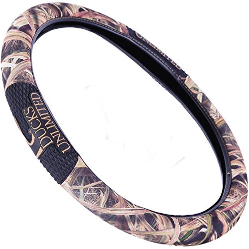 Ducks Unlimited Two-Grip Steering Wheel Cover (Mossy Oak Shadow Grass Blades Camouflage, Microfiber Fabric, Rubber Hand Grips, Sold Individually) (Steering Wheel Cover Alabama compare prices)