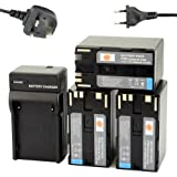 DSTE® (3-pack) BP-970G Li-ion Battery + Charger DC25U for Canon BP-975, XLH1,?XHG1, XHA1, XL2, XM2, XH?G1S, XH?A1S, XL?H1S, XL?H1A, XF305, XF300, XF105, XF100