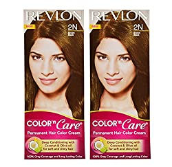 Revlon Combo of Color N Care Hair Color - Brown Black 2N