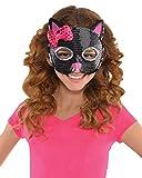 Máscara Amscan Children International Cat Lentejuela