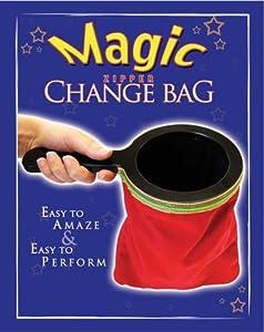 Red Velvet Magic Zipper Change Bag with Black Wooden Handle