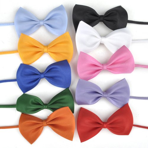 Dog Wedding Bow Tie Collar - 10 Ties in 10 Colors