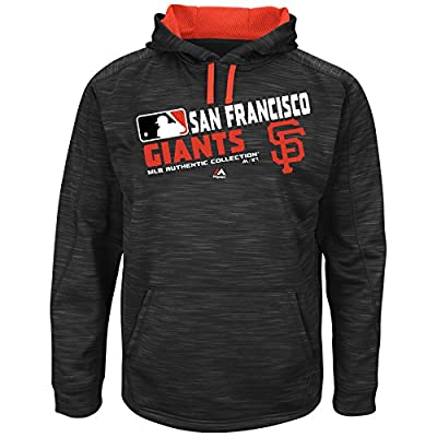 Men's Majestic SF Giants On Field Team Shoice Streak Hoodie