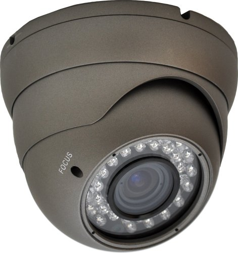 LTS LTCMD718H Night Vision Metal Dome Camera with 1/3-Inch Sony CCD, 540TVL, and 2.8-10mm Wide Angle Vari-Focal Lens