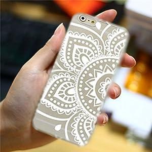 Amazon.com: Henna White Floral Paisley Flower Mandala Plastic Case for