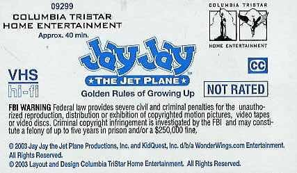 Jay Jay the Jet Plane Golden Rules of Growing Up