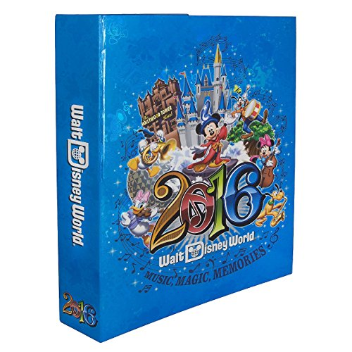 Walt Disney World Parks 2016 Large Photo Album Holds 300 Photos Music Magic Memories