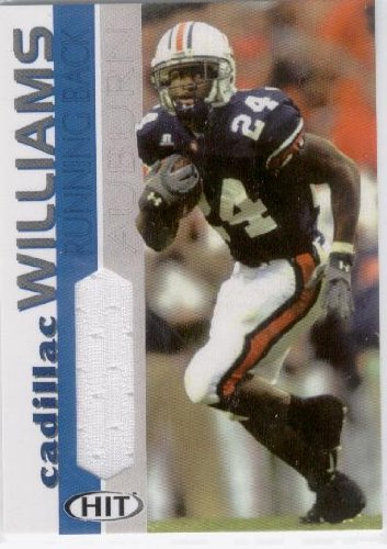 2005 Sage Hit Jerseys #CW Cadillac Williams Auburn(Rookie Insert - Piece of Authentic Jersey - Football Cards) at Amazon.com