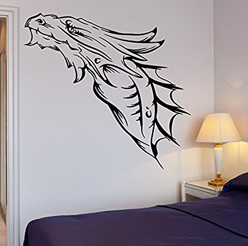 GGWW Wall Decal Cool Decor Dragon Medieval Fantasy Monster Cool Decor (Z2690)