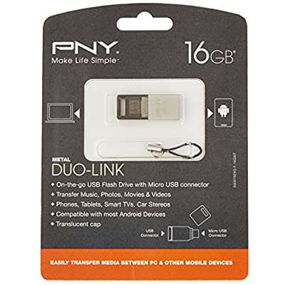 PNY Duo-Link On-The-Go USB Flash Drives (P-FDI16GOTGM-GE)