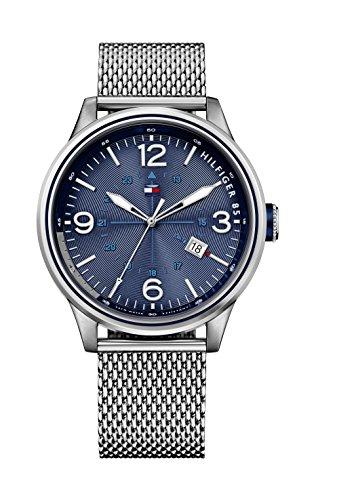 Tommy Hilfiger Herren-Armbanduhr Analog Quarz Silber 1791106 thumbnail