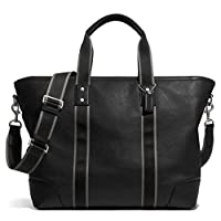 Coach~Black Leather Heritage~Weekender Travel Tote Luggage Bag~71169 from Coach
