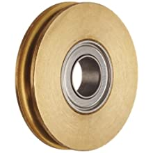 Dynaroll Miniature Precision Motion Control Brass Pulley with Ball Bearing, Double Shielded, Stainless Steel