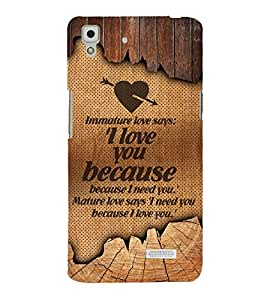 Immature Love Cute Fashion 3D Hard Polycarbonate Designer Back Case Cover for Oppo R7 :: Oppo R7 Lite