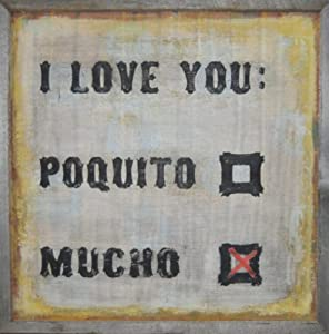 Amazon.com - Sugarboo Designs Art Print AP148 I Love You Poquito ...