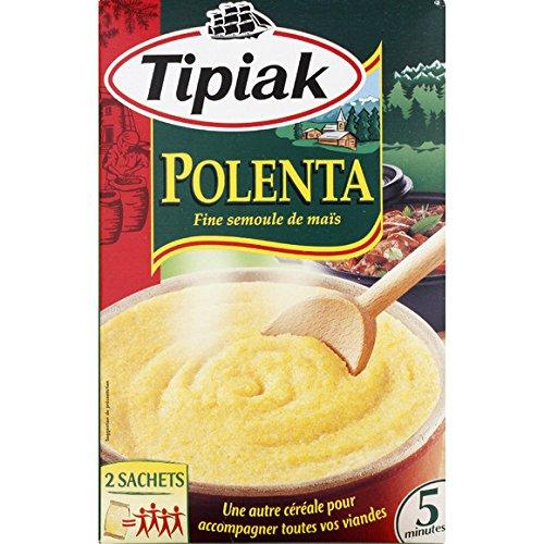 Tipiak - Polenta, semoule de maïs, cuisson 5min. - La paquet de 2 sachets de 250g - (pour la quantité plus que 1 nous vous remboursons le port supplémentaire)