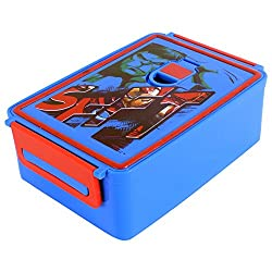 Marvel Avenger Plastic Lunch Box, 960ml, Blue/Red