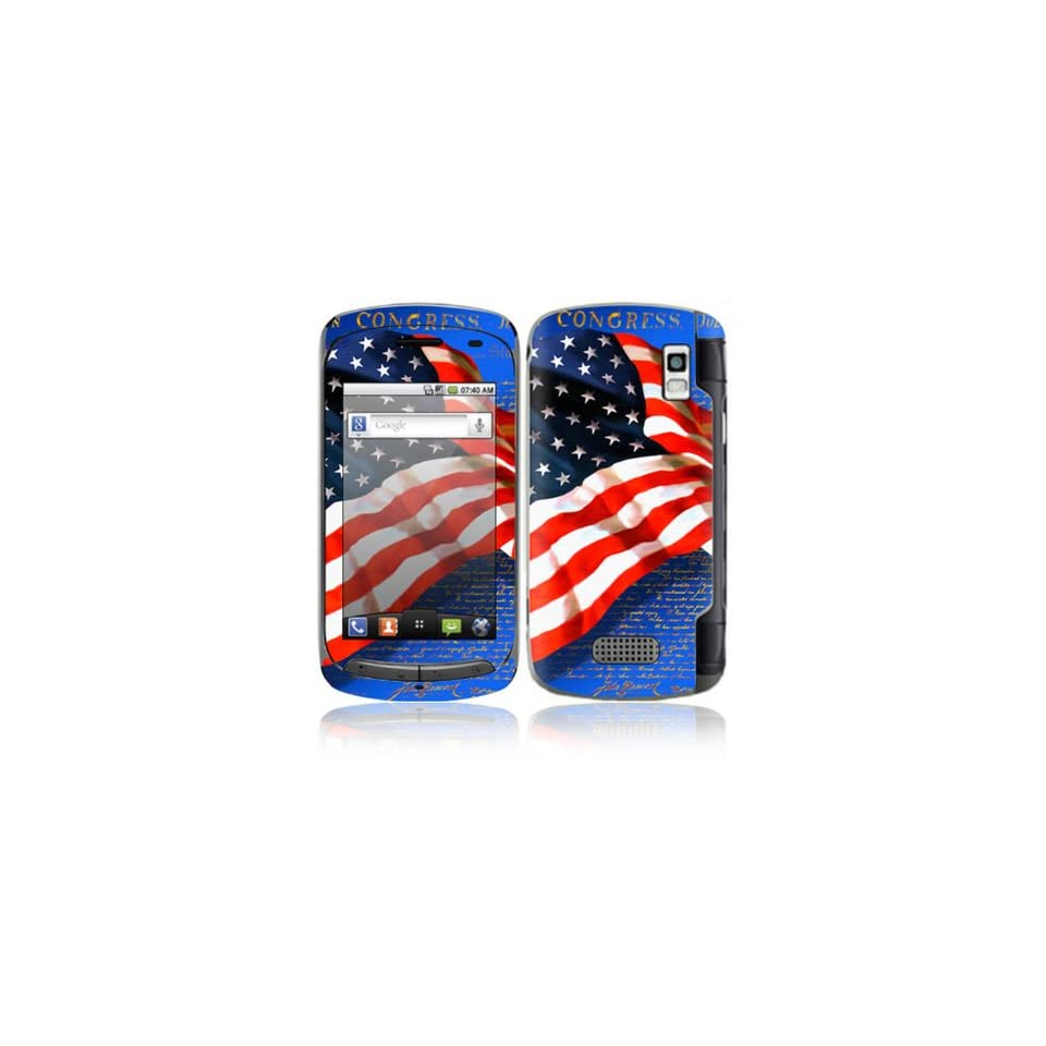 Flag of Honor Design Decorative Skin Cover Decal Sticker for LG Genesis US760 Cell Phone