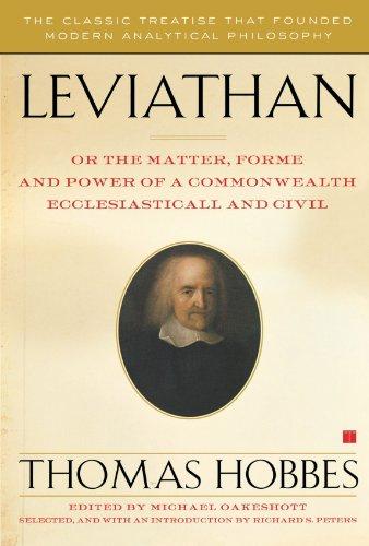 Leviathan: Or the Matter, Forme, and Power of a...