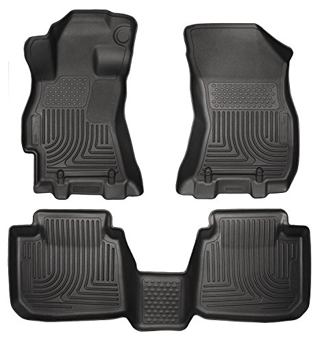 Husky Liners 99671 WeatherBeater Series Black Front and Second Seat Floor Liner