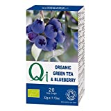 (Pack of 6) Qi - Organic Green Tea & Blueberry 20 Bag