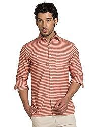 YOO Orange Color Casual Shirt for men