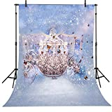 5x7ft Fairy Tale Princess Pumpkin Butterfly Carriage Backdrop Computer Printed Kids Background dd-cm-6708