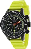 Timex Men's Intelligent Quartz T2N958 Yellow Resin Quartz Watch with Black Dial