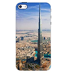 PrintDhaba HIGH TOWER D-6441 Back Case Cover for APPLE IPHONE 4S (Multi-Coloured)