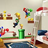 Super Mario Bros Kids Removable Nursery Home Decor Wall Sticker Decals