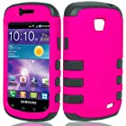 For Straight Talk Samsung Galaxy Proclaim s720c Hybrid TPU Hard Case Pink