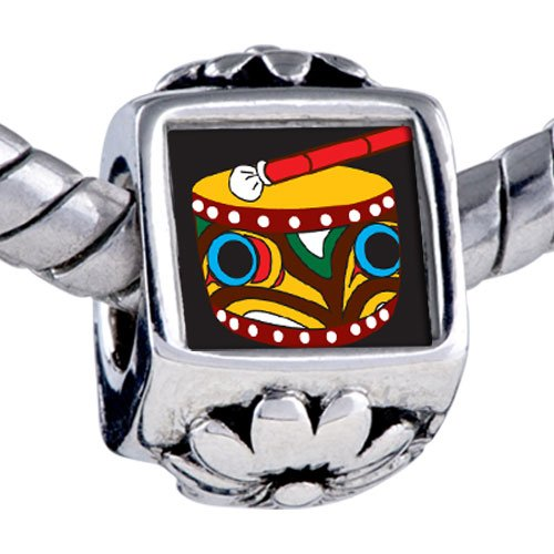 Pugster Bead Drum Beads Fits Pandora Bracelet