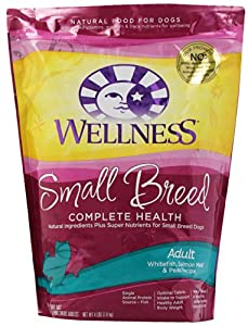 Wellness Complete Health Natural Dry Dog Food, Small Breed Salmon Meal and Peas Recipe, 4-Pound Bag