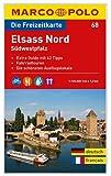 MARCO POLO Freizeitkarte Elsass Nord, Südwestpfalz 1:120:000