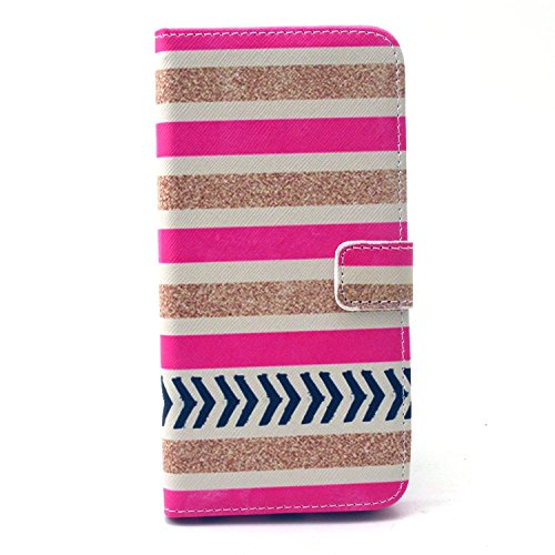 IPhone 6 Plus/6S Plus Case, Firefish Premium [Kickstand] Build-in Double Protection PU Wallet Case with Magnetic Closure Shock-Absorbing Shell for Apple iPhone 6 Plus/6S Plus+ One Stylus-Pink-gold