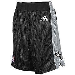 San Antonio Spurs Black Youth 8 Inseam NBA Replica Basketball Shorts By Adidas by adidas