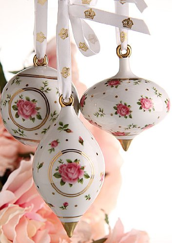 Royal Albert Traditional Holiday Ornaments New Country Roses